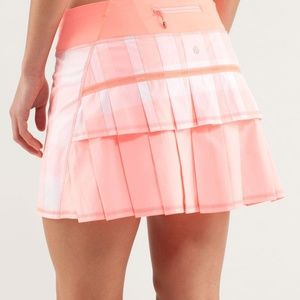 Lululemon: Run: Pace Setter Skirt in Coral, Size 6
